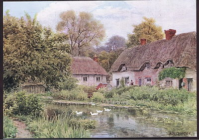 Cottages at Lake, Nr Salisbury, Wiltshire, from The Cottages and the Village Life of Rural England published by Dent and Sons Limited, 1912