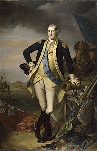 George Washington after the Battle of Princeton on January 3, 1777