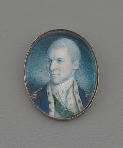 Lieutenant-Colonel Alexander Hamilton, 1777 (wc on ivory)