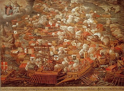 Battle of Lepanto 1571 - Contemporary.