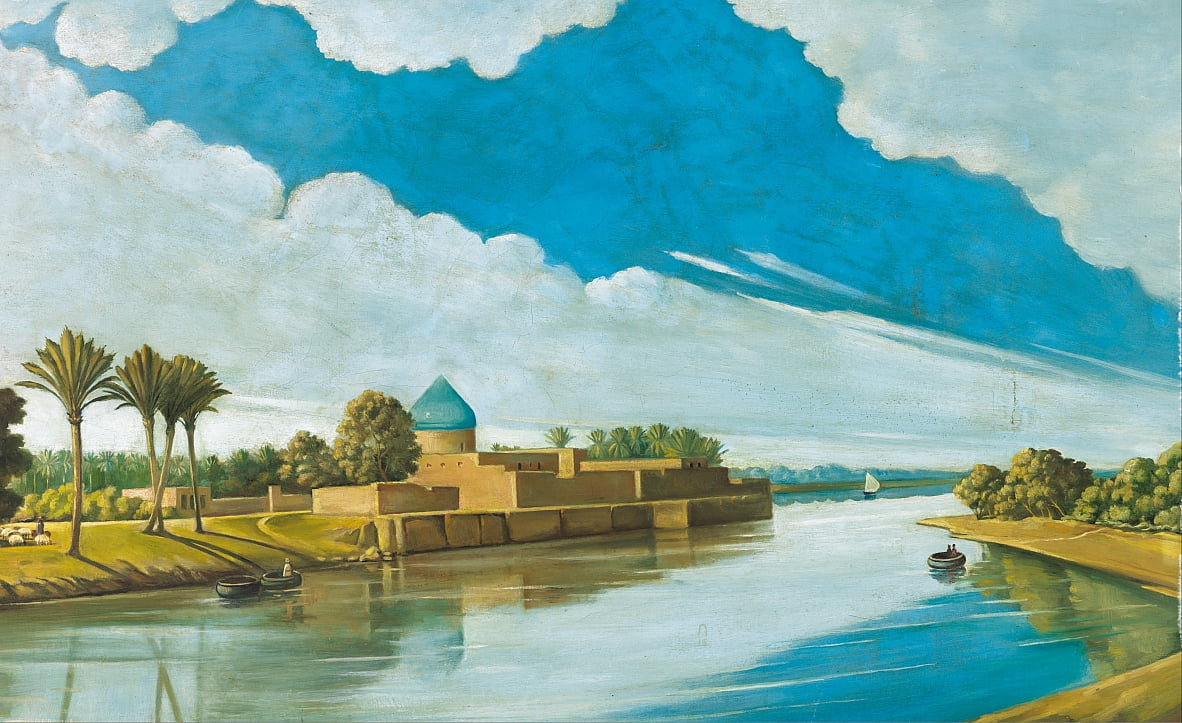 River Scene on the Banks of the Tigris by Abdul Qadir al Rassam