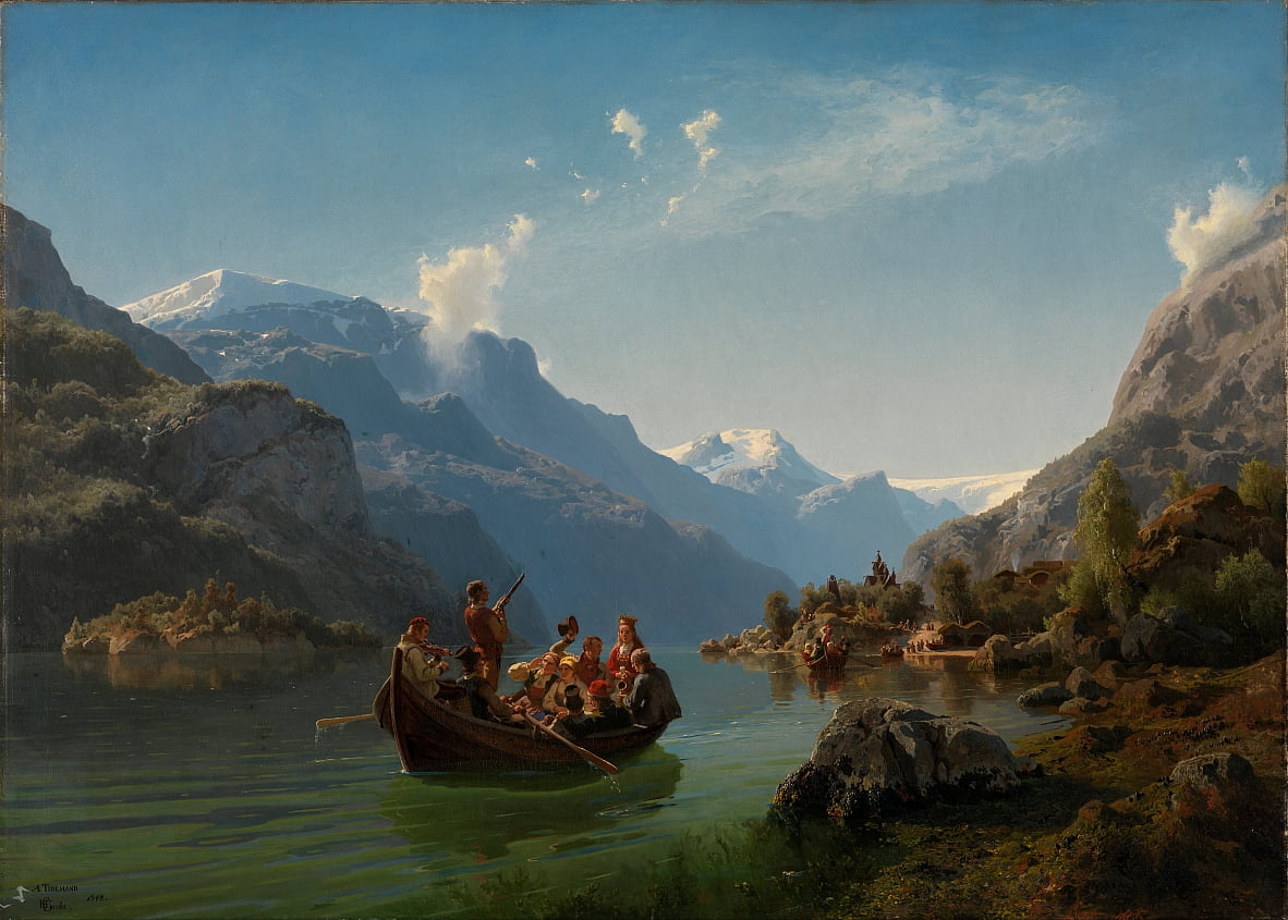 Bridal journey in Hardanger by Adolph Tidemand