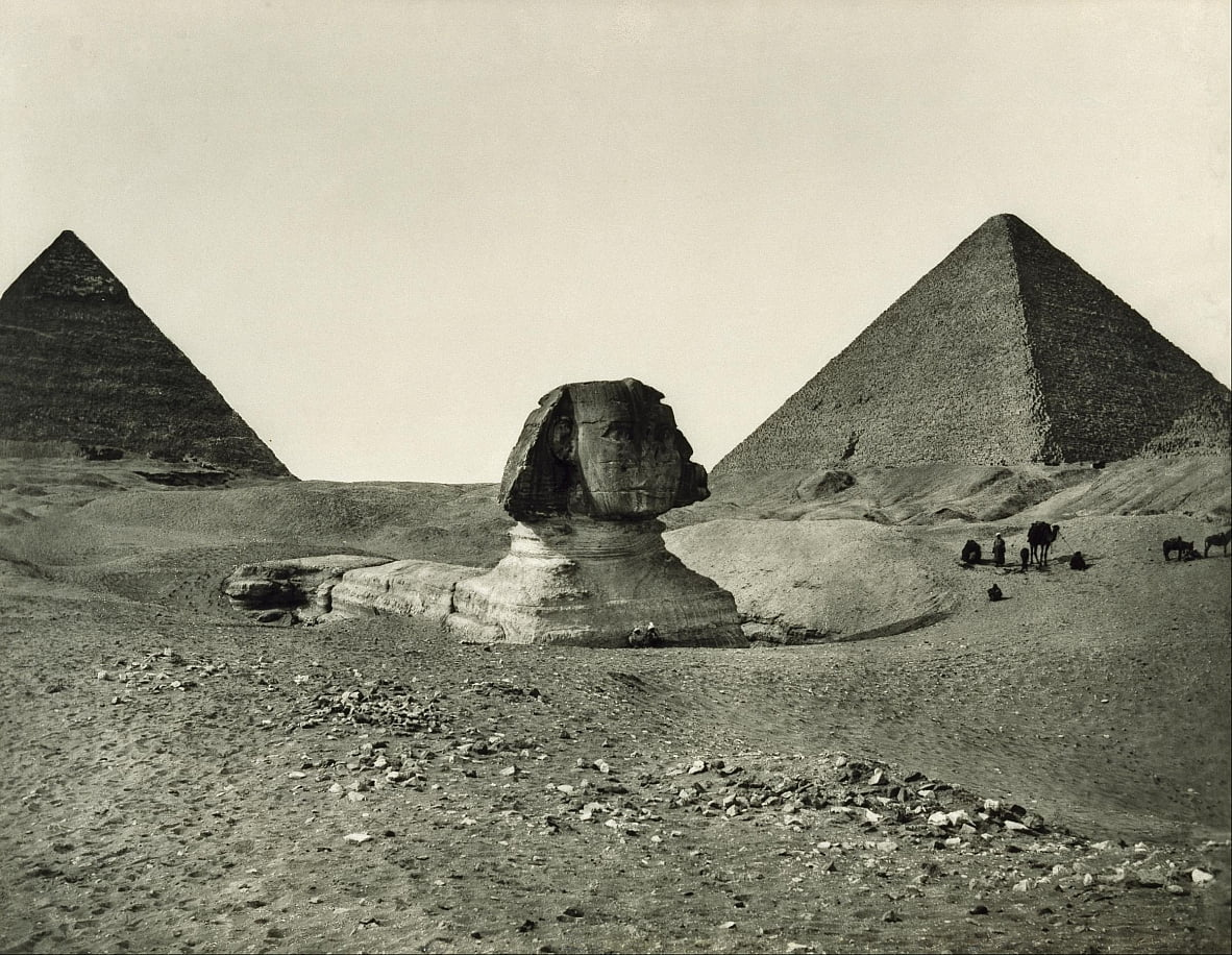 The Sphinx and the Pyramids by Adolphe Braun