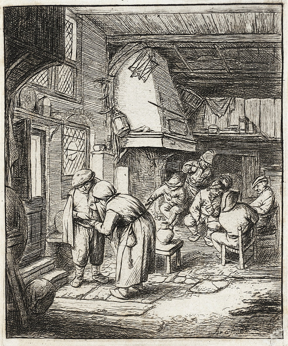 The Peasant Settling His Debt  by Adriaen Jansz. van Ostade