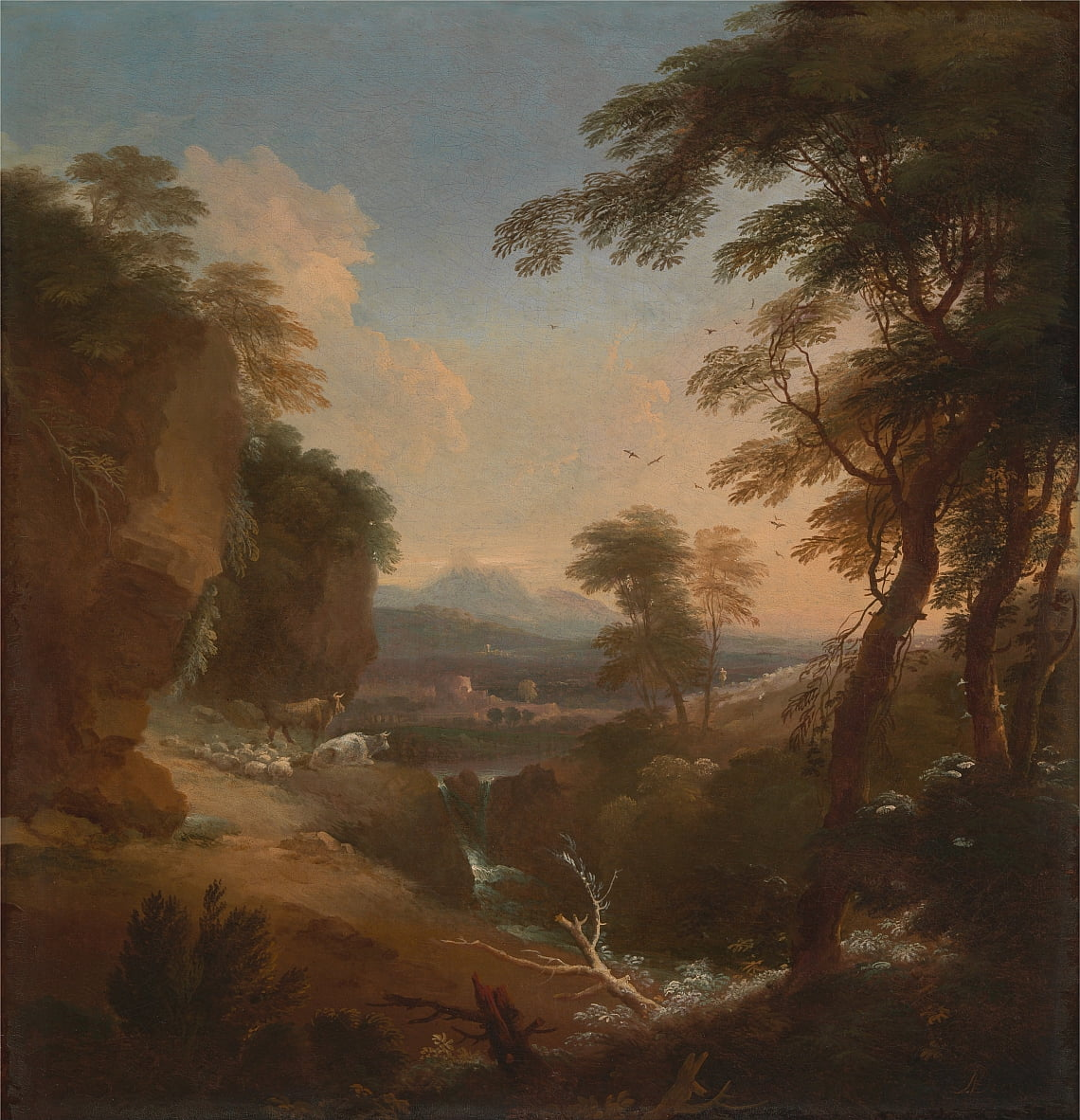 Landscape with Distant Mountains by Adriaen van Diest