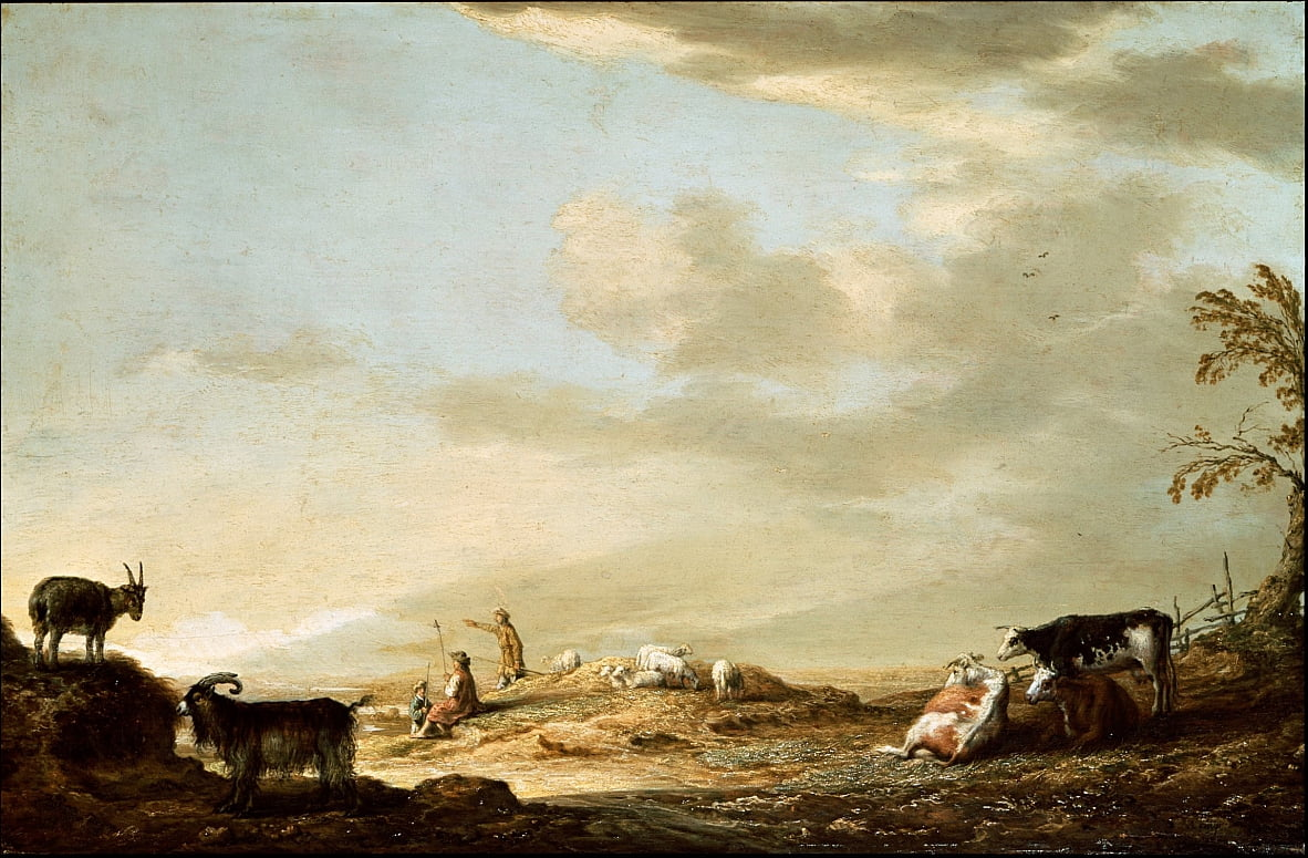 Landscape with Cattle and Figures by Aelbert Cuyp