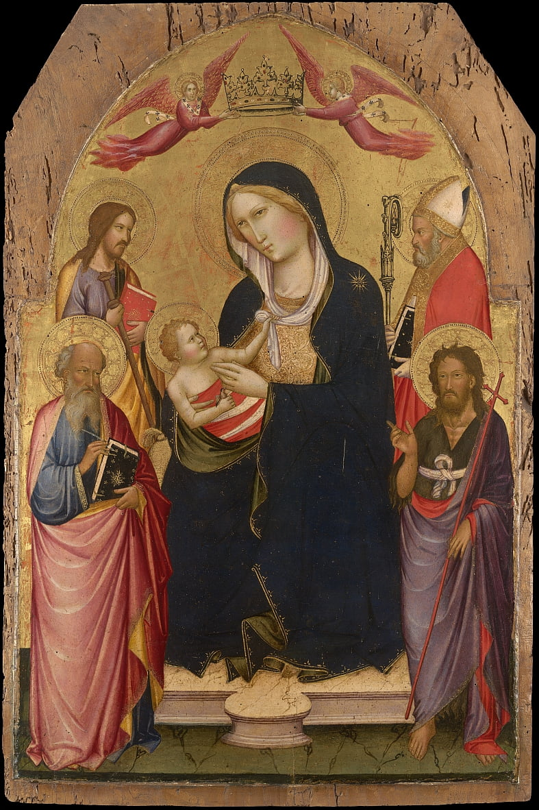 Madonna and Child with St John the Evangelist by Agnolo Gaddi