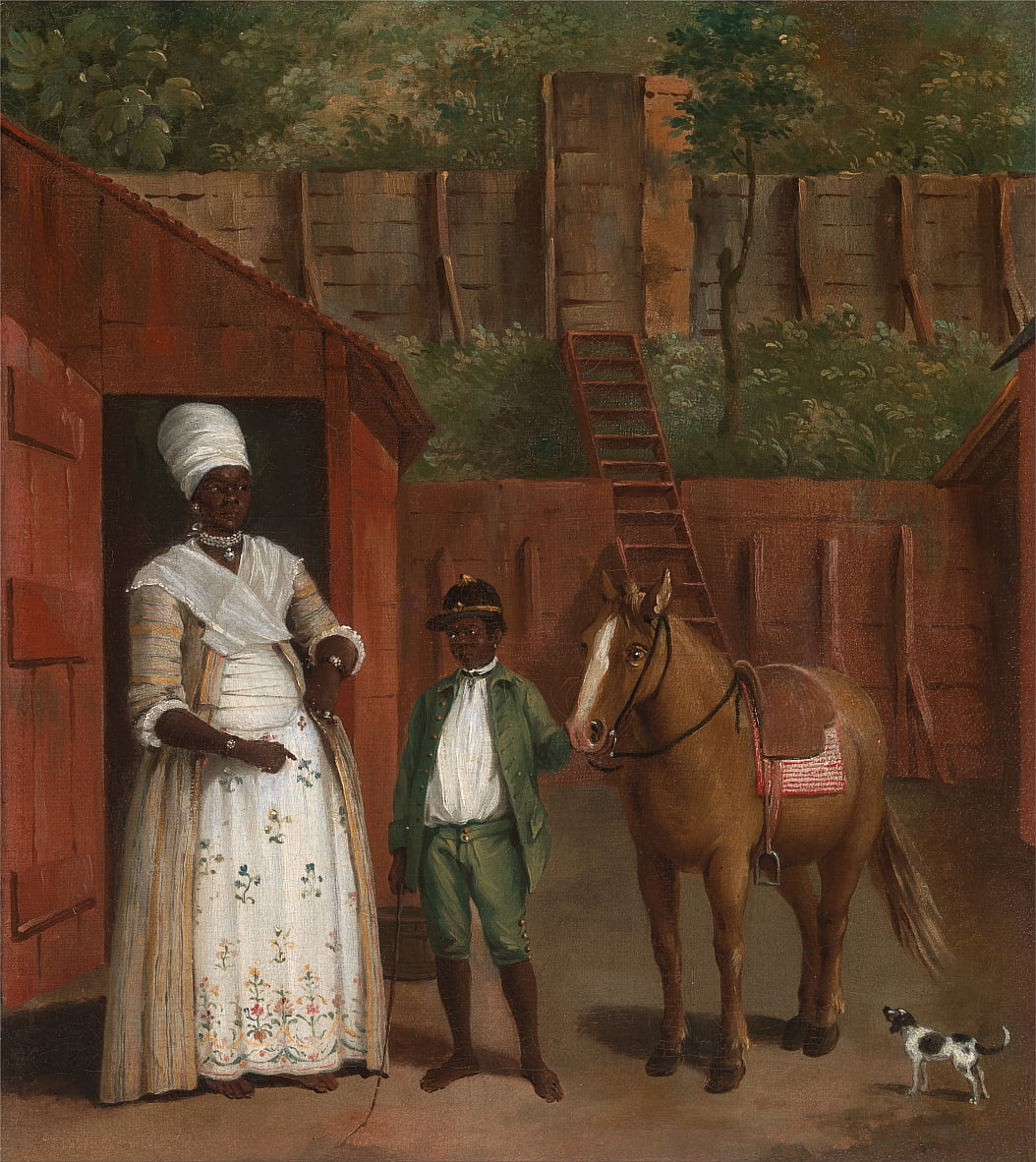 A Mother with her Son and a Pony by Agostino Brunias