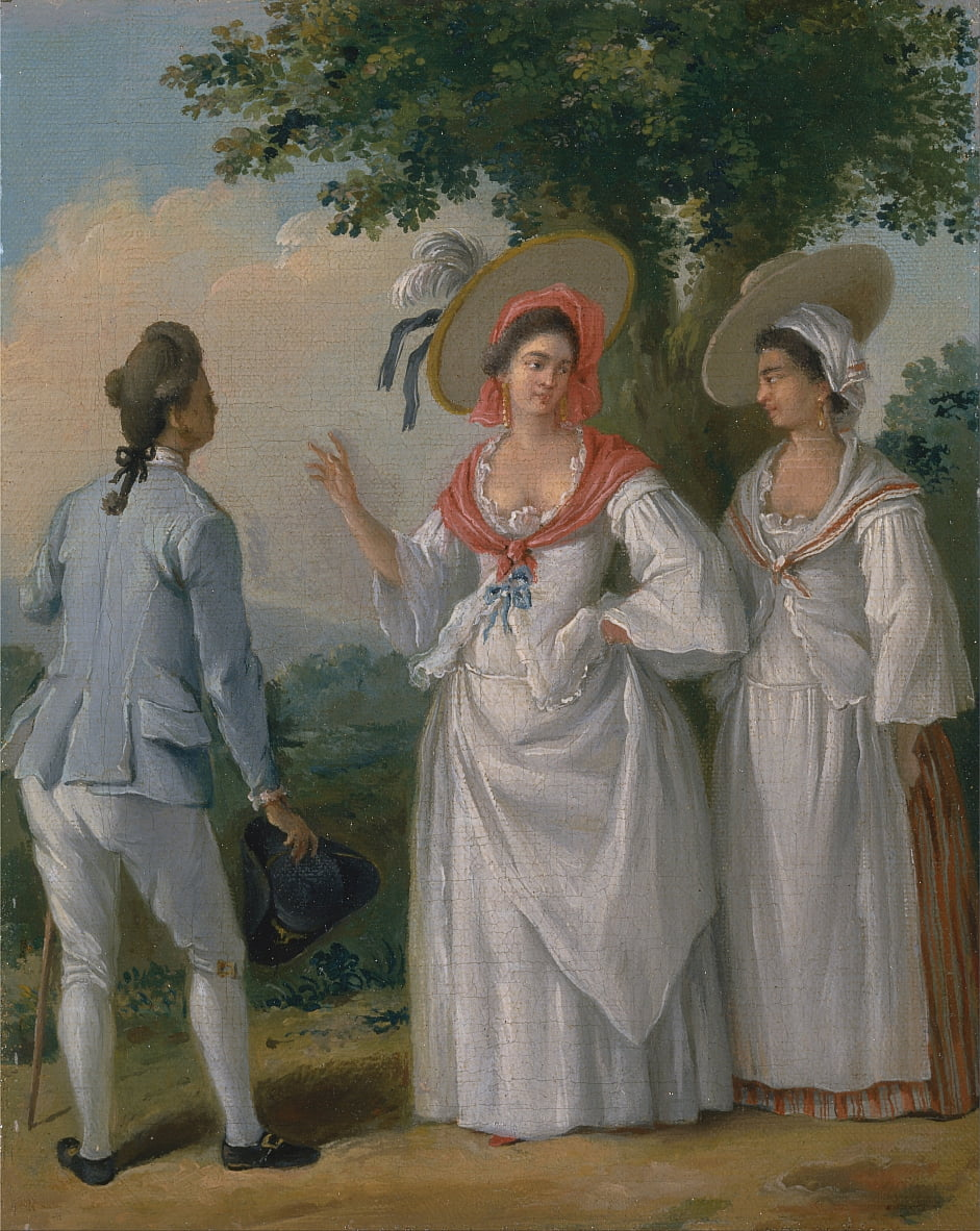 Free West Indian Creoles in Elegant Dress by Agostino Brunias