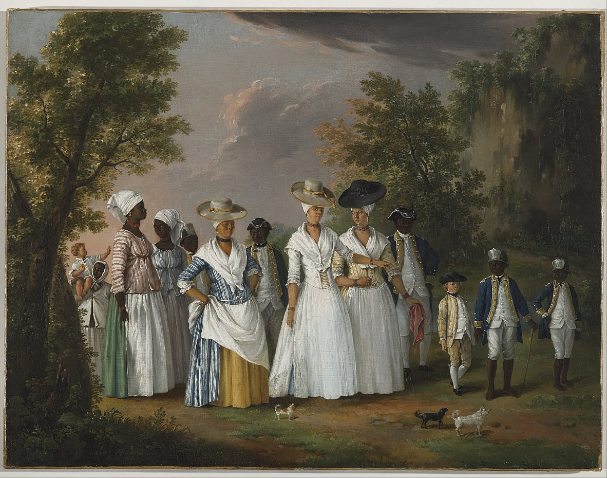 Free Women of Color with their Children and Servants in a Landscape by Agostino Brunias