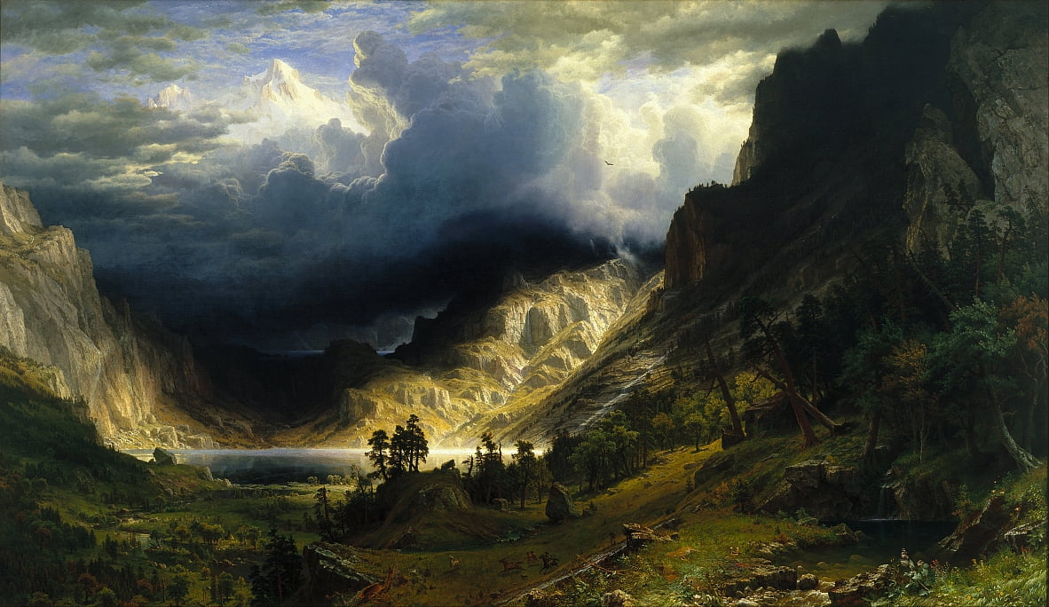 A Storm in the Rocky Mountains, Mt. Rosalie by Albert Bierstadt