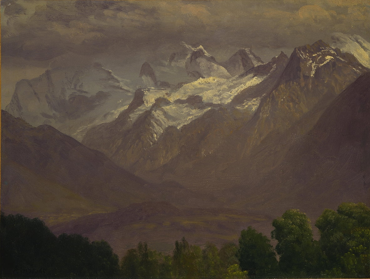 In the High Mountains by Albert Bierstadt