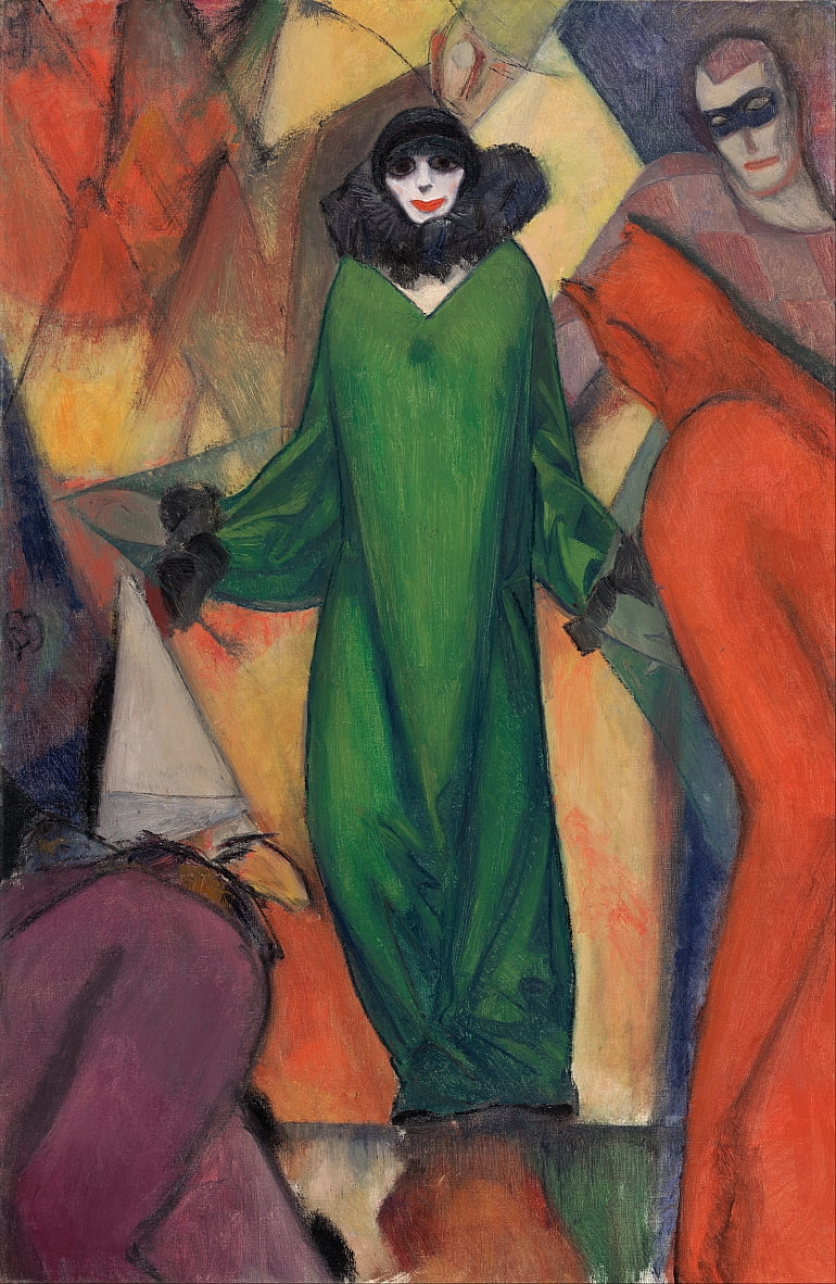 The Green Domino by Albert Bloch