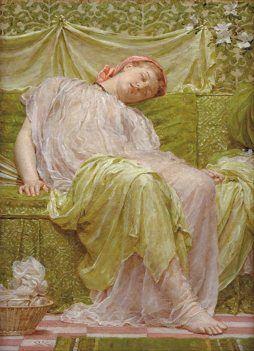 A workbasket by Albert Joseph Moore