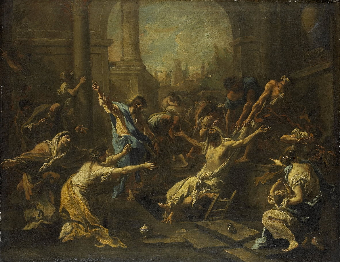 The Raising of Lazarus by Alessandro Magnasco