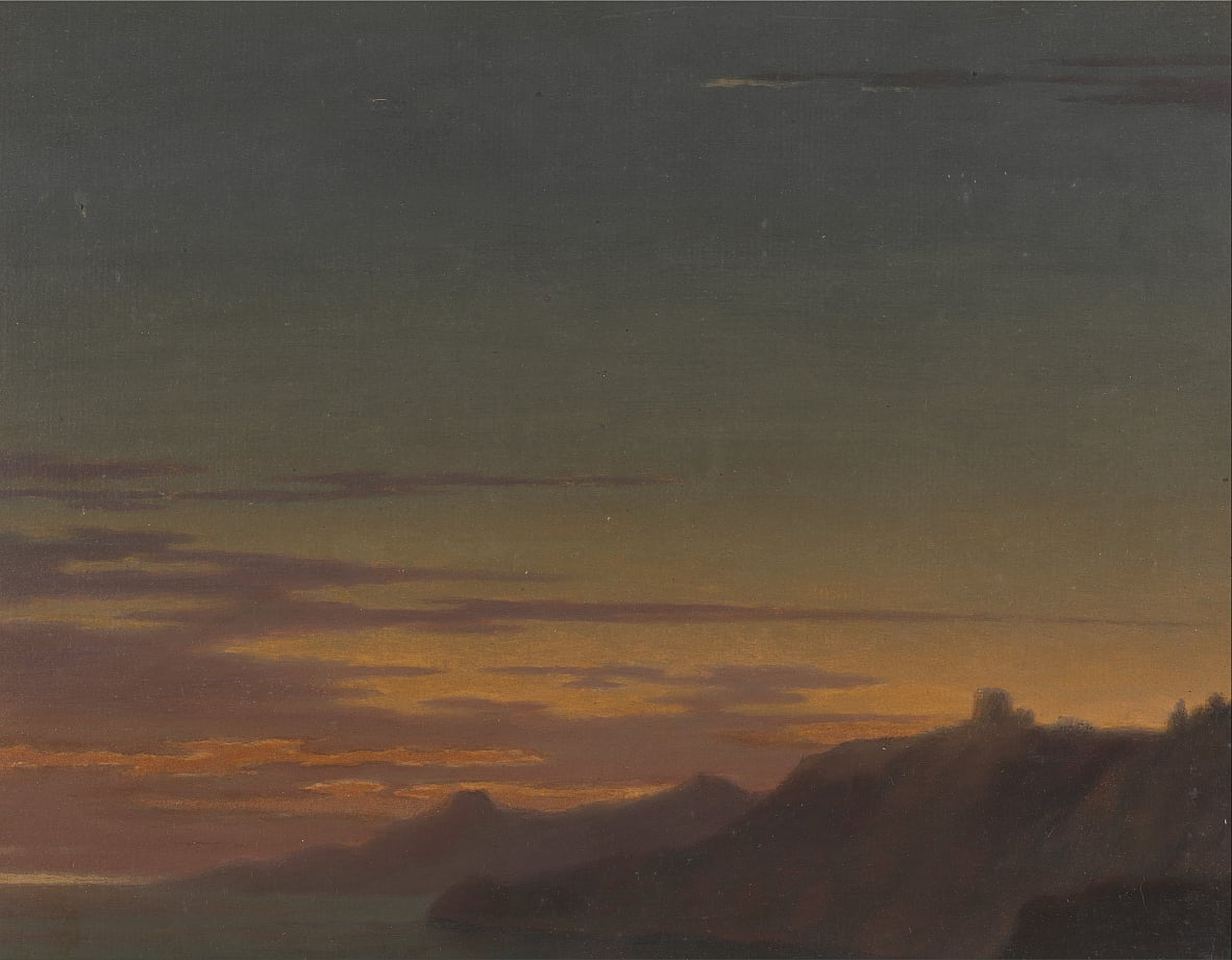 Close of the Day- Sunset on the Coast by Alexander Cozens