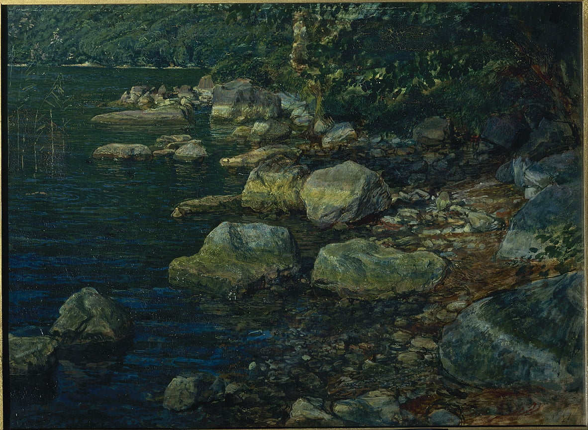 Water and Stones near Palazzuola by Alexander Andreyevich Ivanov