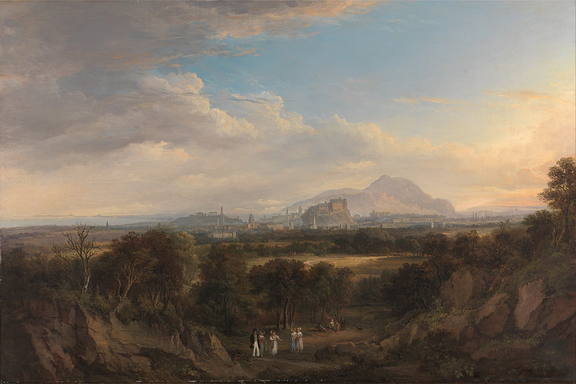 A View of Edinburgh from the West by Alexander Nasmyth