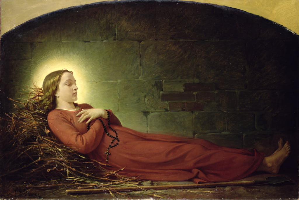 The Death of Germaine Cousin (1579-1601) the Virgin of Pibrac, c.1863  by Alexandre Grellet