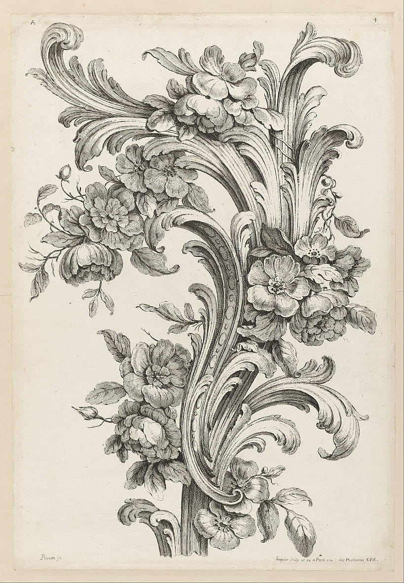 Floral and Acanthus Leaf Design by Alexis Peyrotte