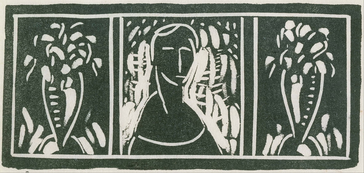 Linoleum Cut with Tribute by Sherwood Anderson by Alfred Henry Maurer