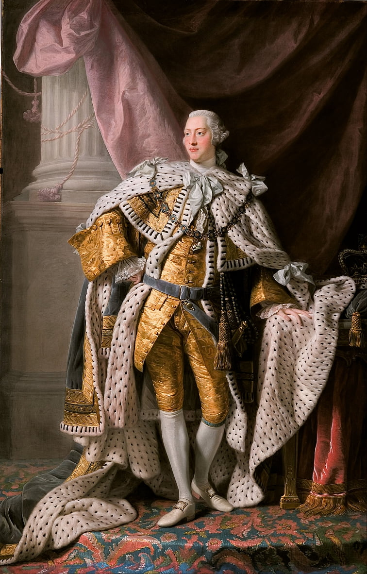 King George III in coronation robes by Allan Ramsay