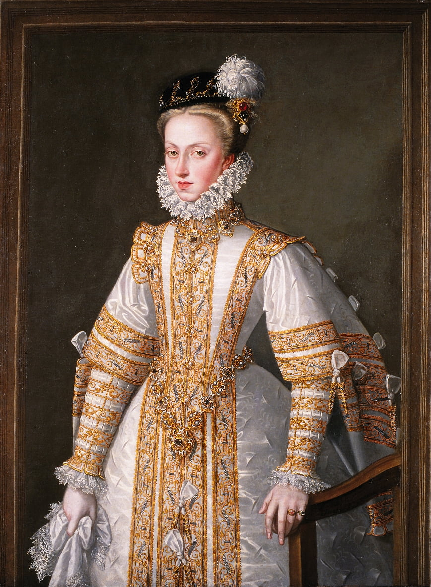 Anne of Austria, Queen of Spain by Alonso Sánchez Coello