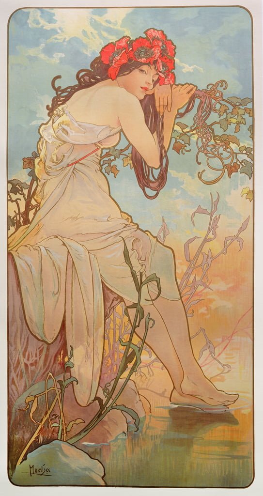 The Seasons: Summer, 1896  by Alphonse Mucha