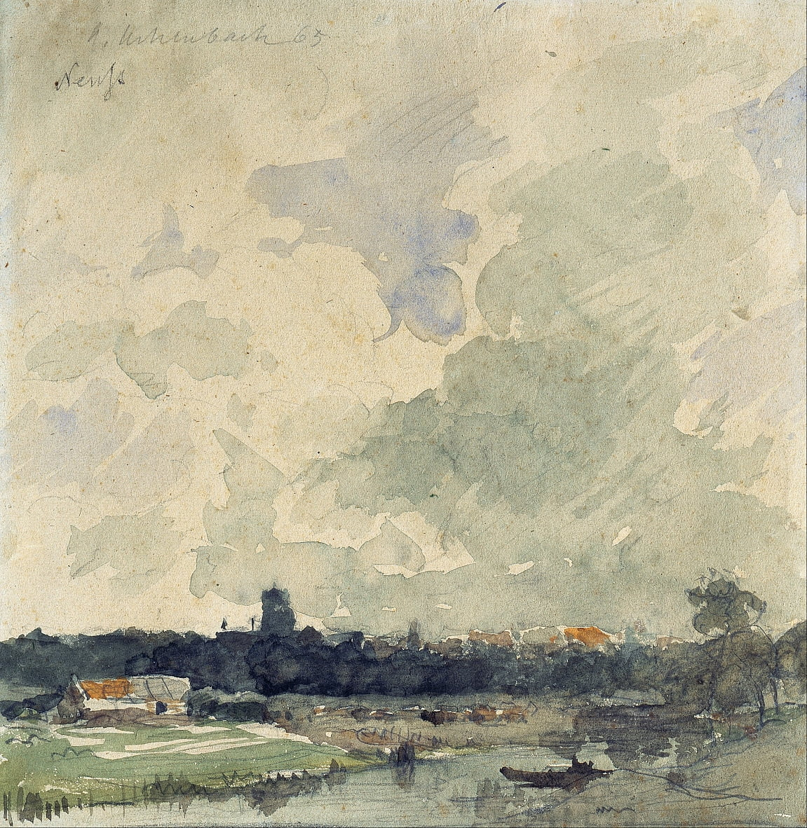 View of Neuss by Andreas Achenbach