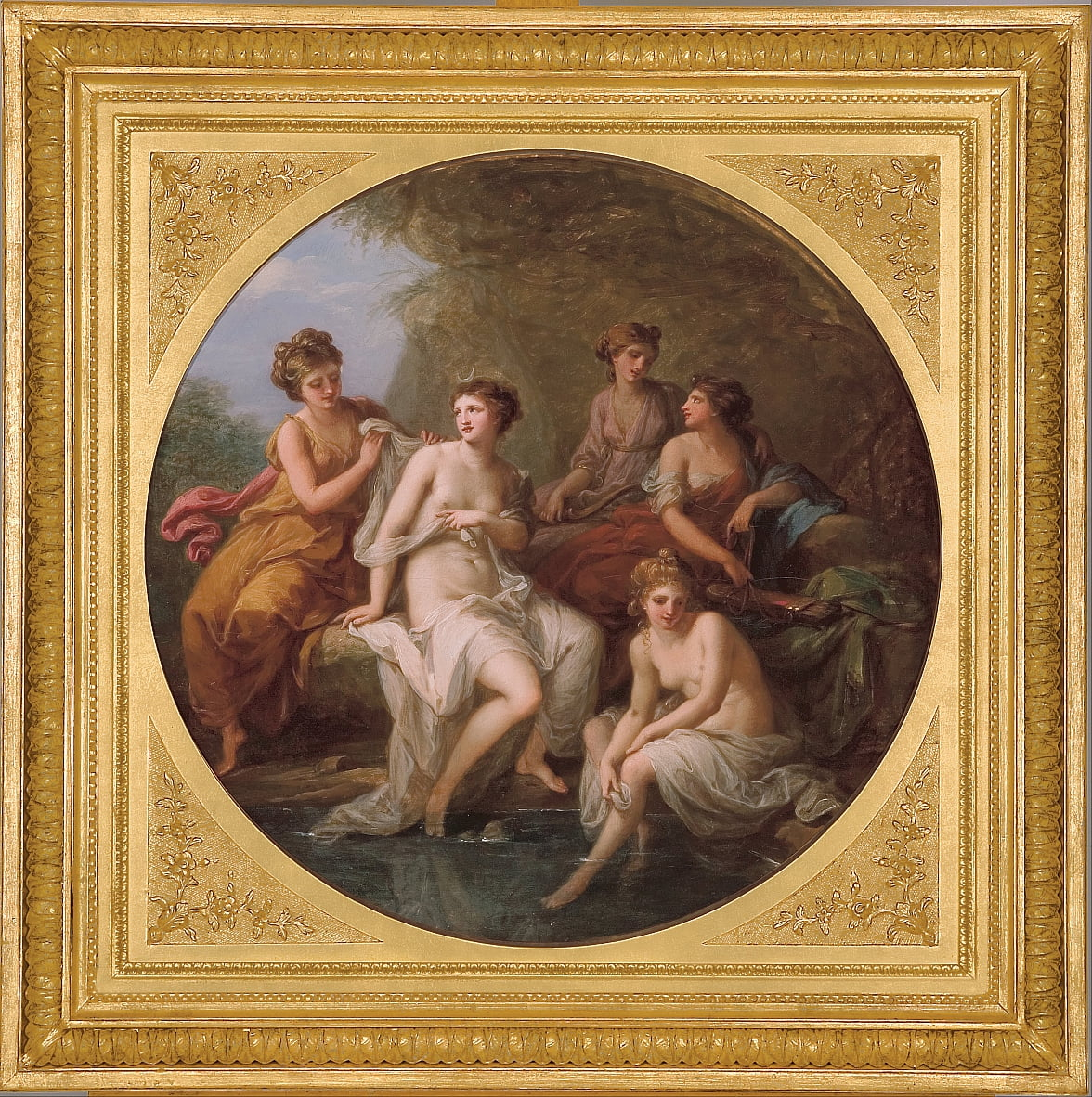 Diana and her nymphs bathing by Angelica Kauffmann