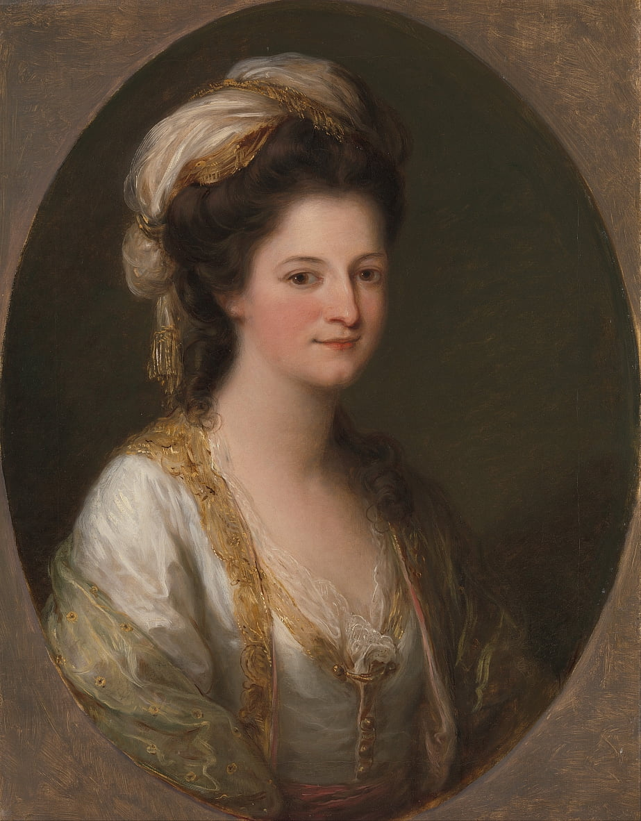 Portrait of a woman, traditionally identified as Lady Hervey by Angelica Kauffmann