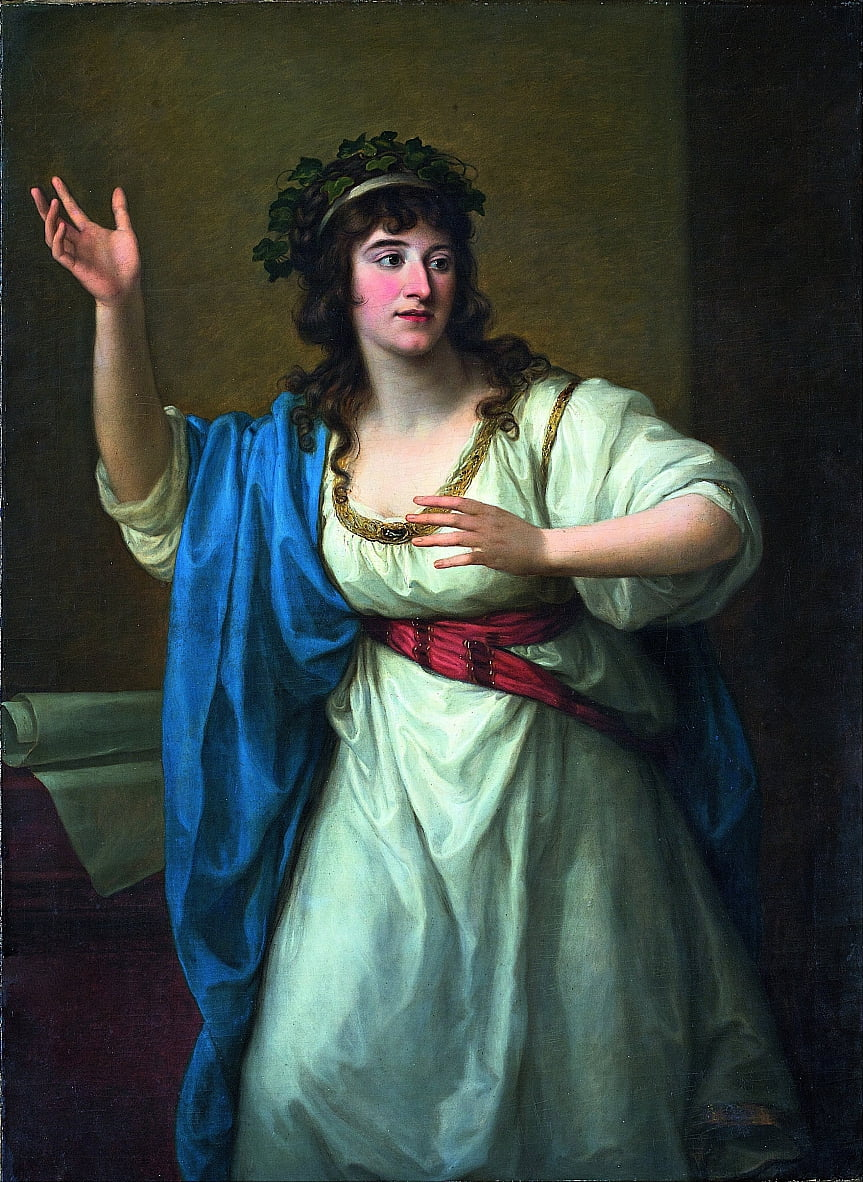 Portrait of the Impromptu Virtuoso Teresa Bandettini-Landucci of Lucca by Angelica Kauffmann