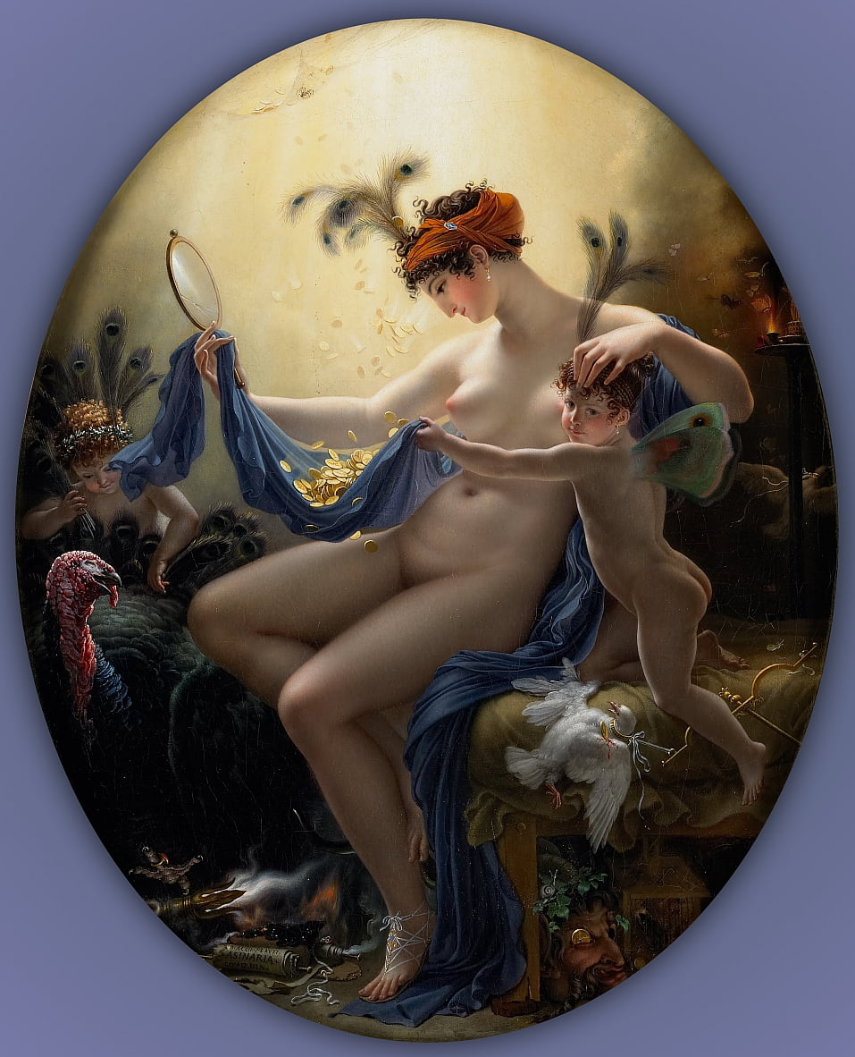 Portrait of Mlle. Lange as Danae by Anne Louis Girodet de Roucy Trioson