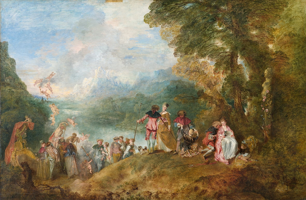Pilgrimage to Cythera, so-called The Embarkation for Cythera   by Jean Antoine Watteau