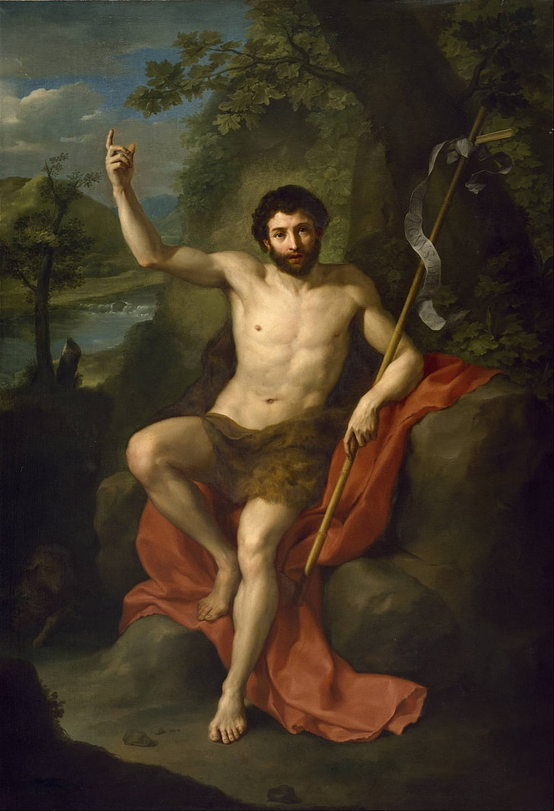 St. John the Baptist Preaching in the Wilderness by Anton Raphael Mengs