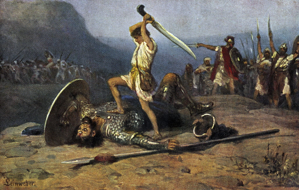 David and Goliath - Bible by Anton Robert Leinweber
