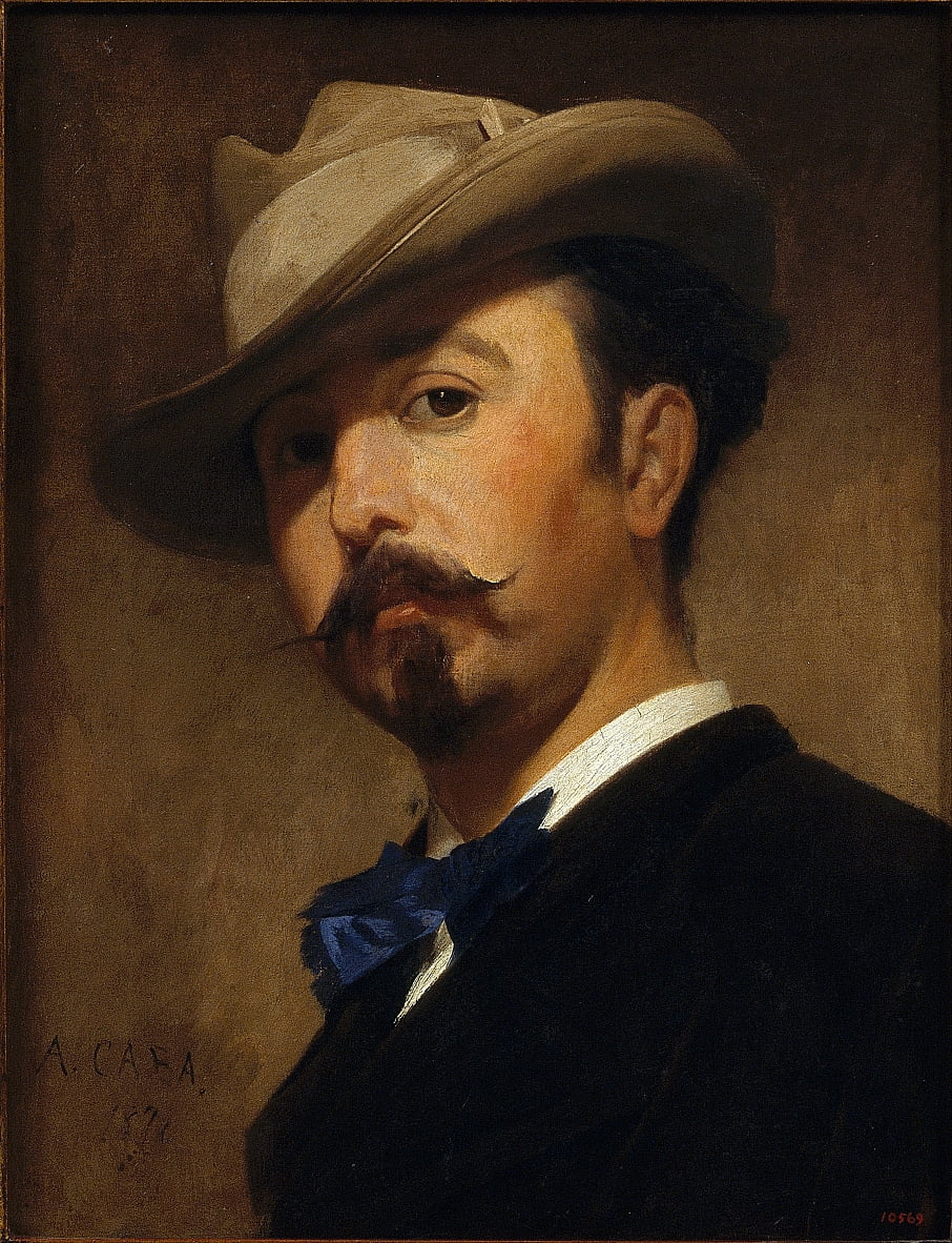 Portrait of the Painter Joaquim Vayreda by Antoni Caba