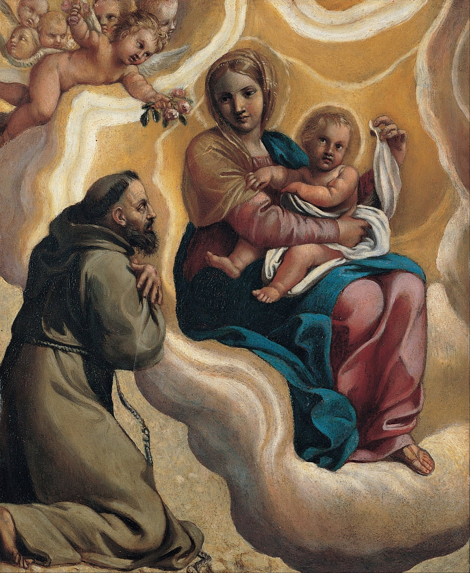Madonna with the Child and Saint Francis by Antonio Carracci