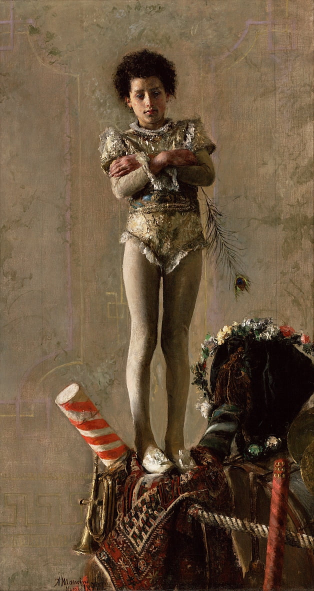 The Saltimbanco by Antonio Mancini