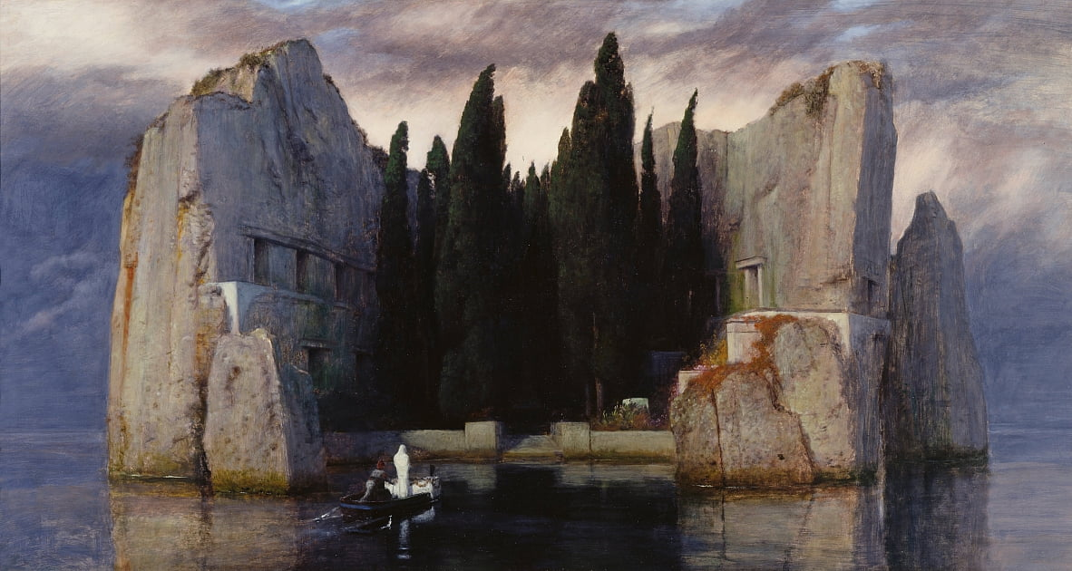 Die Toteninsel by Arnold Böcklin