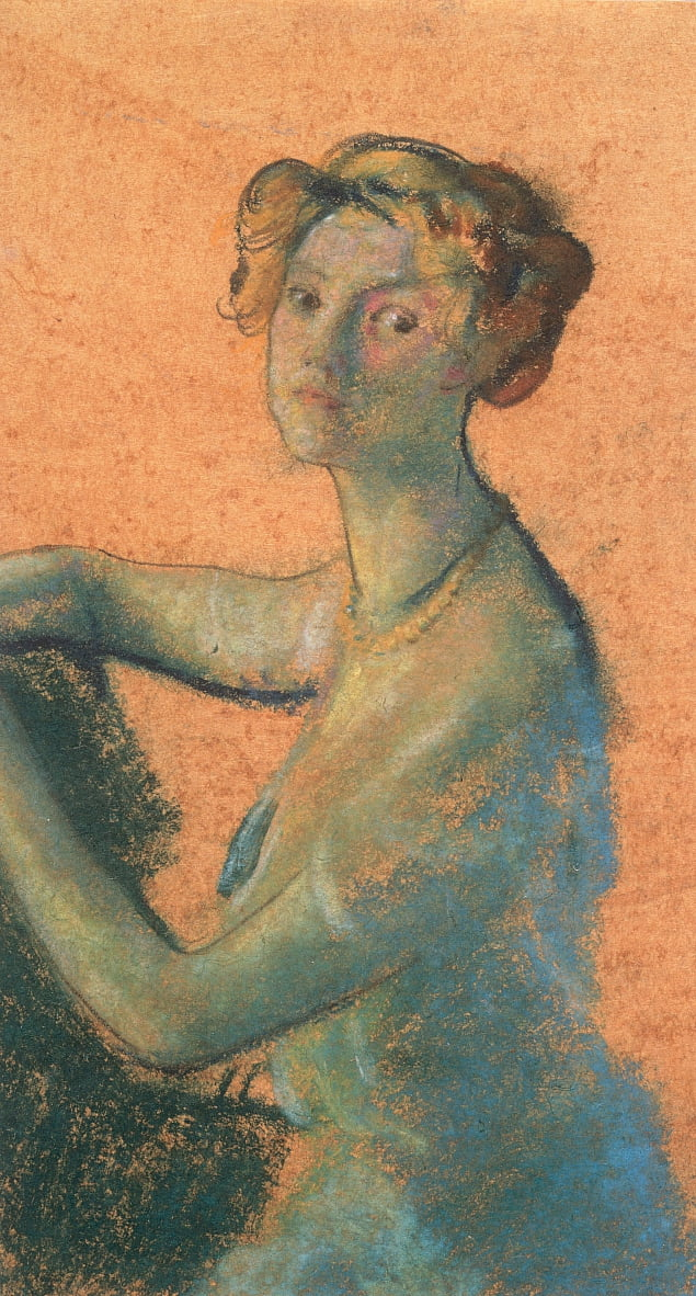Woman with Orange Background from A.B. Davies book, edition -25, 50 by Arthur Bowen Davies