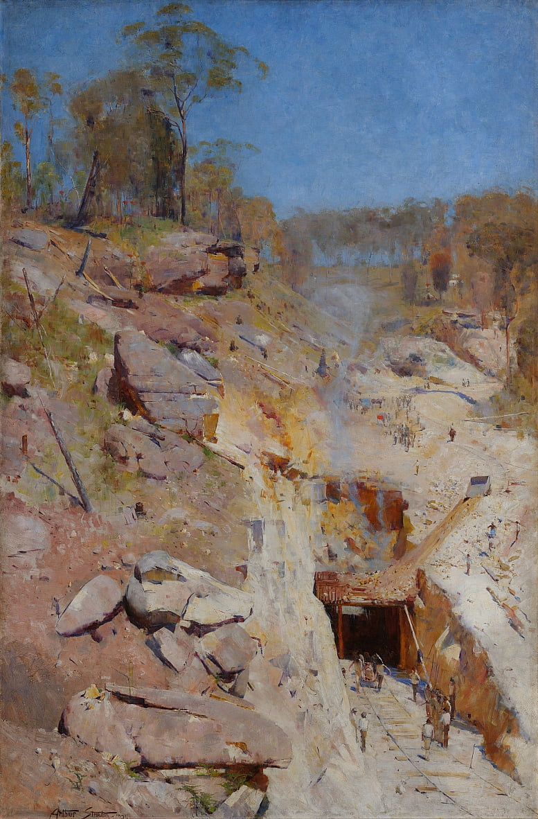 Fires on by Arthur Streeton