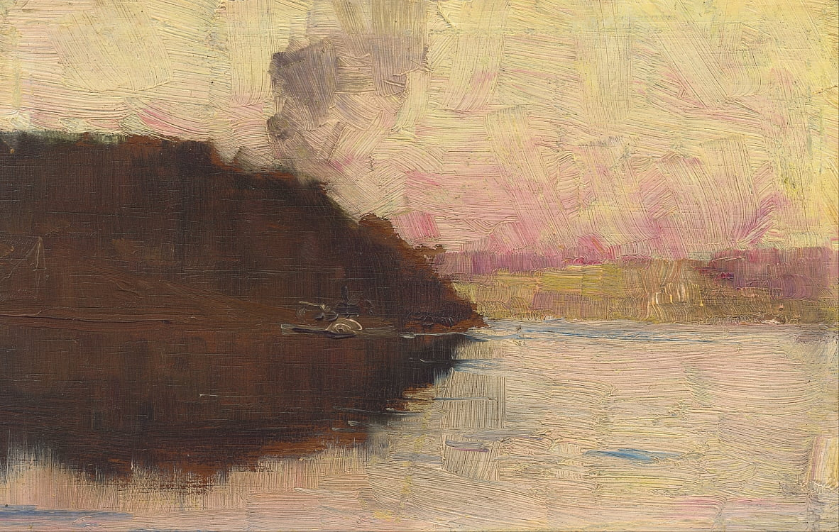 The Point, sunset by Arthur Streeton