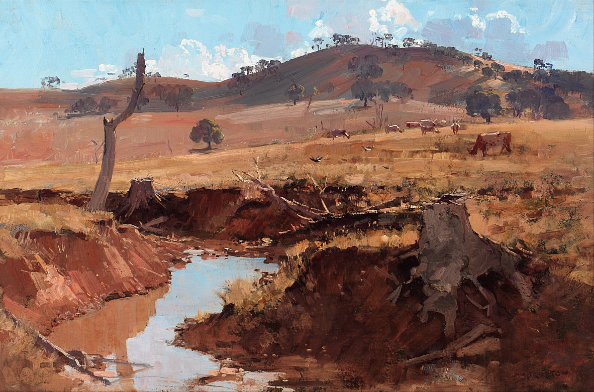The creek by Arthur Streeton