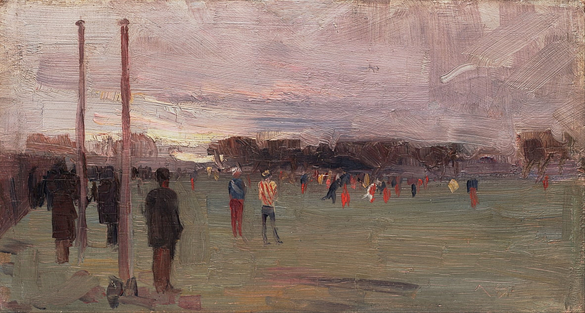 The national game by Arthur Streeton