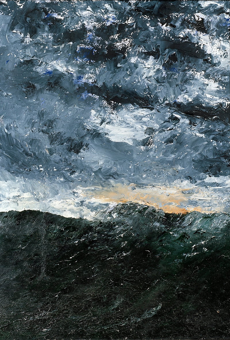 Landscape, seascape- Vågen VIII (Wave VIII) by August Johan Strindberg
