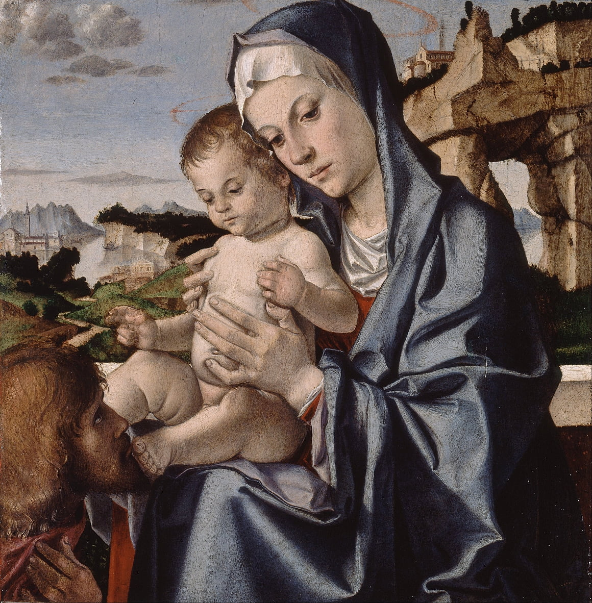 The Virgin and Child with a Saint by Bartolomeo Montagna