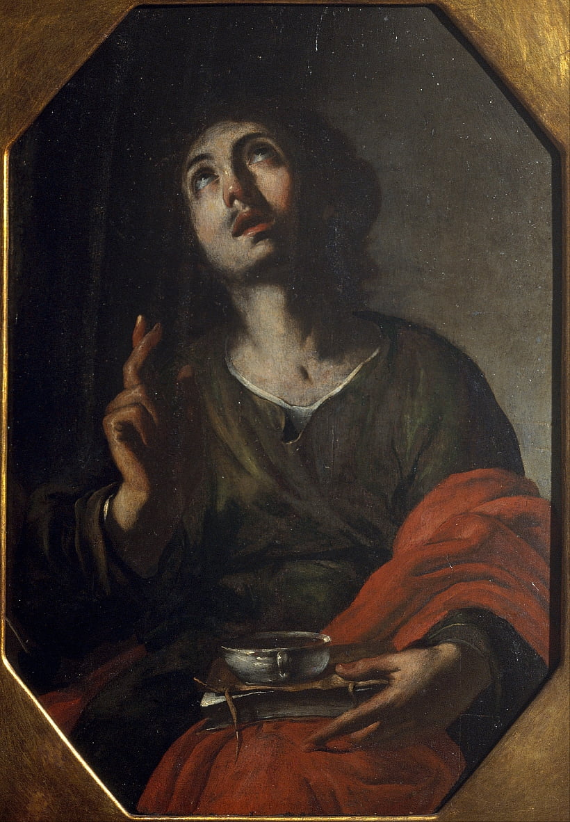 Saint John the Evangelist by Bernardo Cavallino