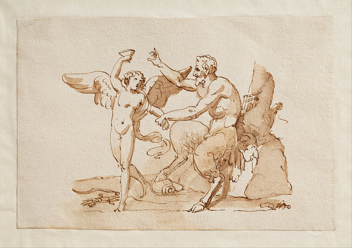 Pan and Cupid by Bertel Thorvaldsen