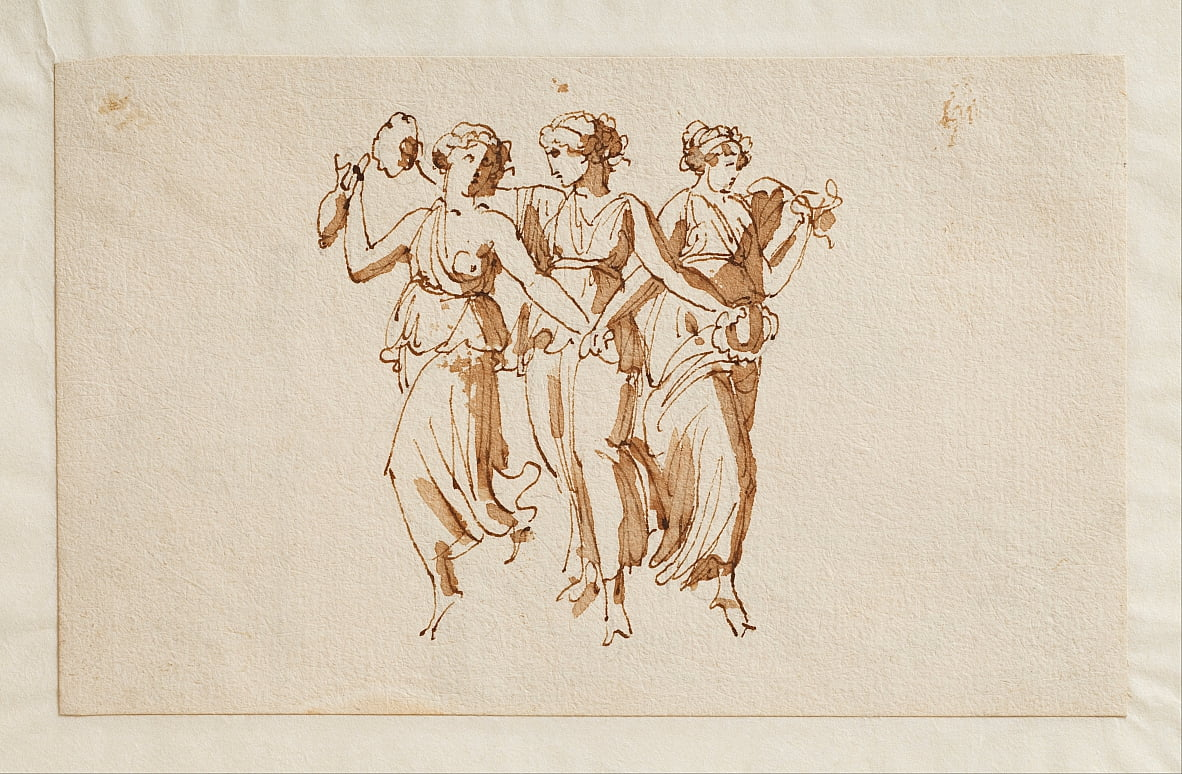 Three Dancing Bacchantes by Bertel Thorvaldsen
